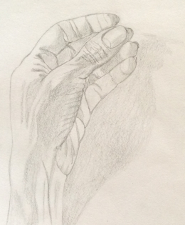 The hand (1). Pencil