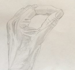 The hand (2). Pencil