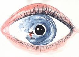 Bipolar disorder (1). Watercolour